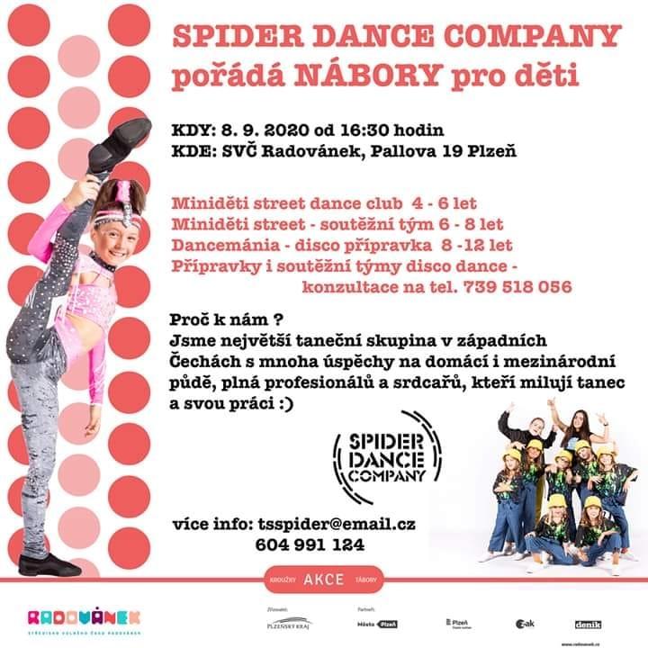 Nábor dětí - Spider dance company