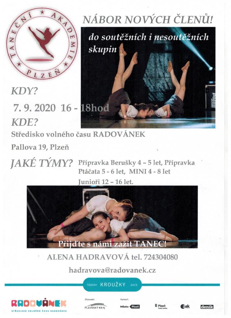 Nábor Taneční Akademie Plzeň